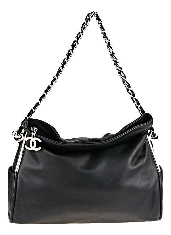 Chanel Black Lambskin Leather Ultimate Soft Bag