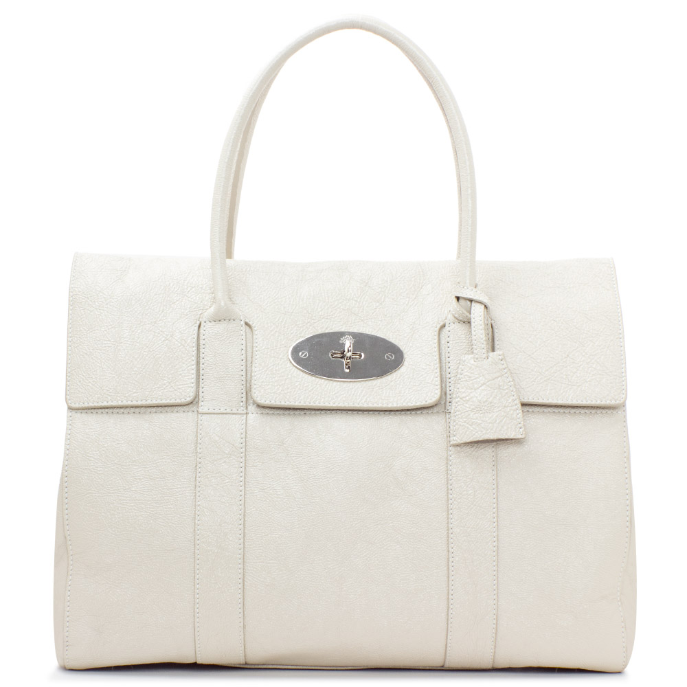 fb497dc765 Mulberry Snowball Grained Leather Bayswater Bag