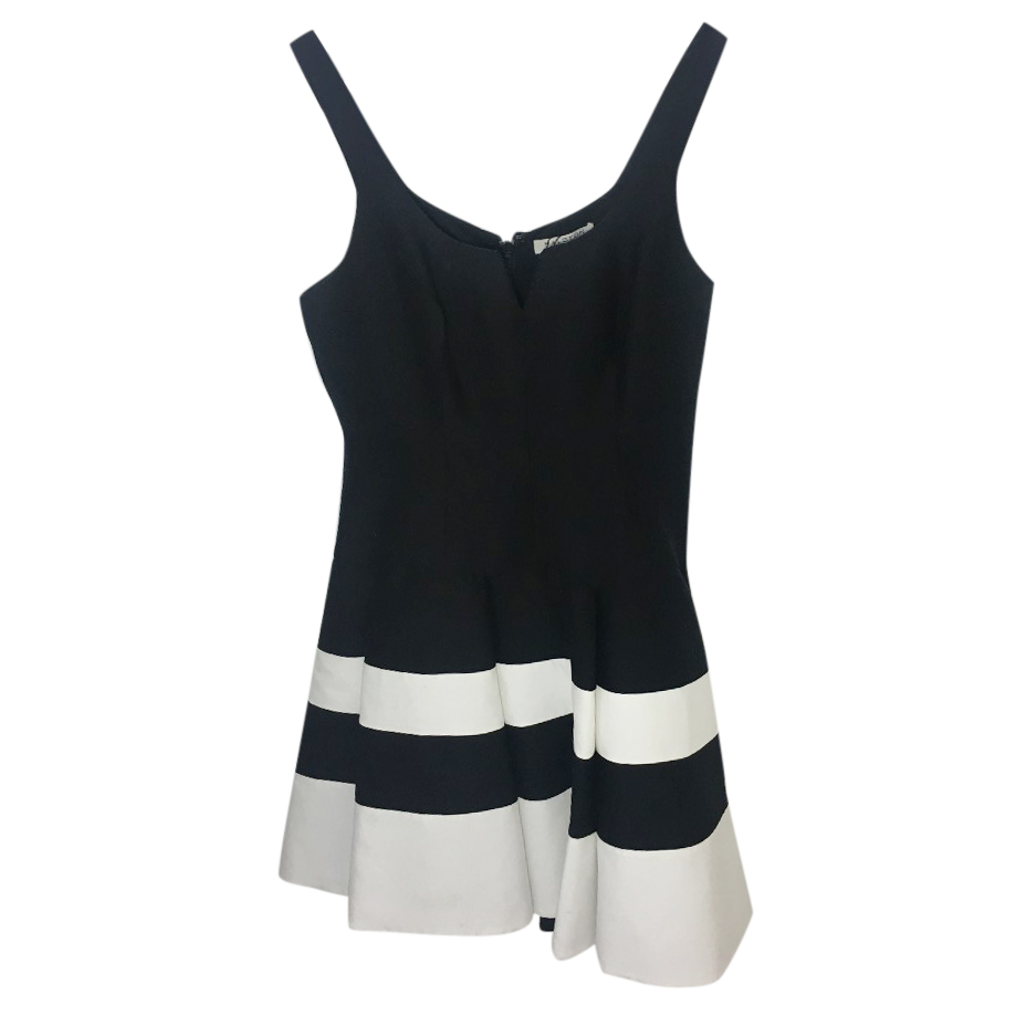Halston Heritage Black Skater Dress