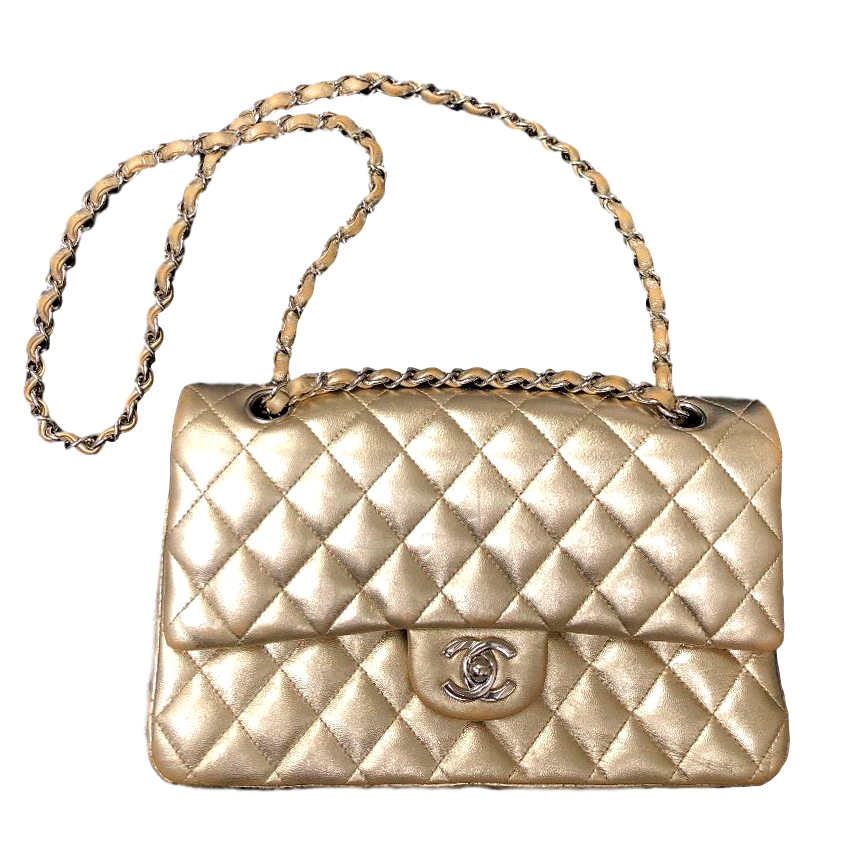 107a2b67625a Chanel Gold Quilted Medium Classic Flap 255 Bag | HEWI London