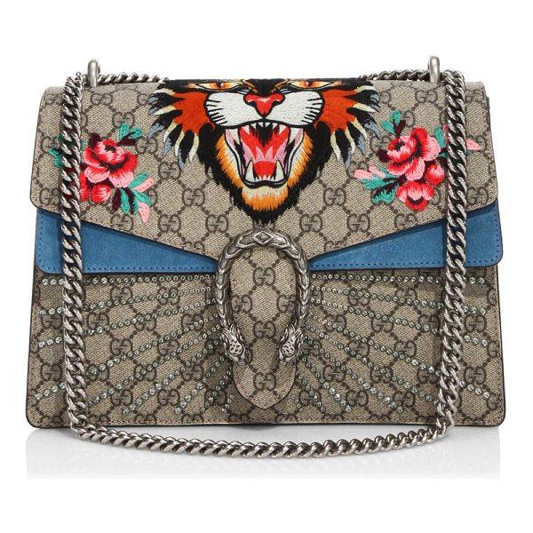 dff9546b678be1 Gucci Dionysus Embroidered Tiger Head Medium Shoulder Bag | HEWI London