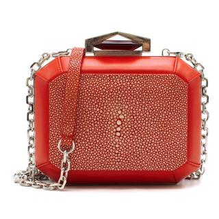 Alexander McQueen Stingray Box Clutch Bag