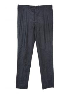 Neil Barrett virgin wool blend dark grey trousers