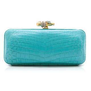 Ethan K Crocodile L Clutch Bag