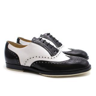 T & F Slack Shoemakers London Handmade Monochrome Brogues