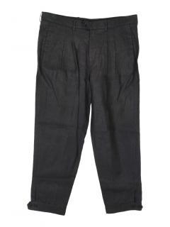 Neil Barrett black linen trousers