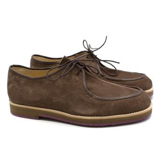 T&F Slack Shoemakers London Handmade Suede Lace Loafers