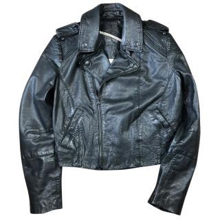 Diesel Ladies Leather Biker Jacket
