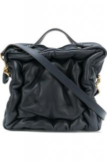 Anya Hindmarch Navy Chubby Cube Bag