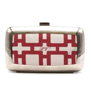 Roger Vivier silver printed Clutch Bag