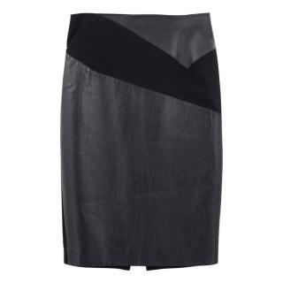Roland Mouret Lynx Leather Pencil Skirt