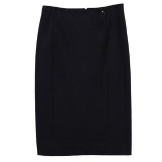 Paige Black Label Dresden Ponte Pencil Skirt