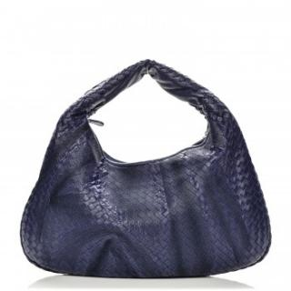 Bottega Veneta Embroidered Intrecciato Nappa Large Hobo Bag