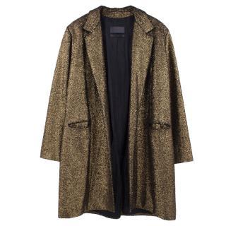 Siran 'Olivia' Metallic foiled jersey Coat