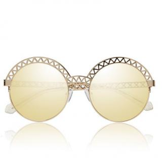 House of Holland Browfighter gold sunglasses