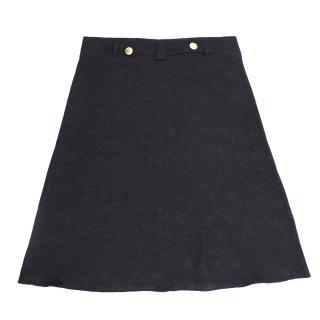 Maison Mayle France Floral Jacquard Skirt