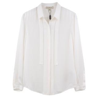 Burberry Long Sleeve Silk Blouse