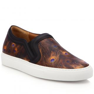 Givenchy feather print leather skate shoes