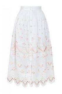 Temperley White Hika Skirt