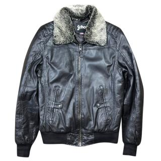 Schott NYC Leather Bomber Jacket