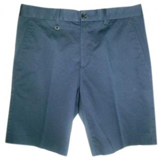 Prada Navy Cotton Shorts