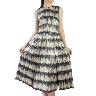 Hugo Boss Metallic Stripe Runway Dress
