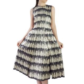 Hugo Boss Metallic Stripe Runway Dress
