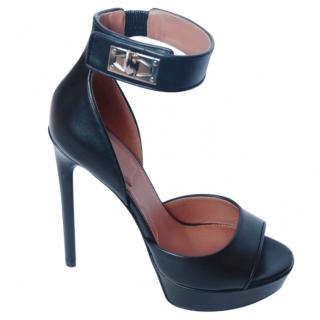 Givenchy black leather platform sandals