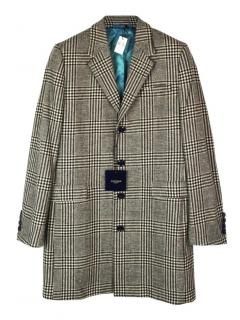 Holland Esquire check wool long coat