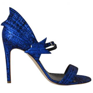 Rupert Sanderson Starfire metallic textured-leather sandals