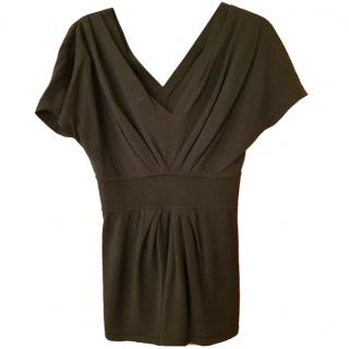 Alberta Ferretti black virgin wool top, UK size 10