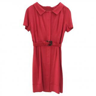 Alberta Ferretti Red Day Dress