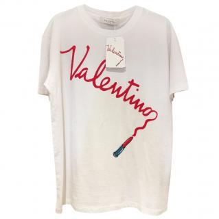 Valentino Lipstick Logo Oversized T Shirt