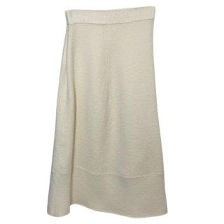 Victoria Beckham Cream Wool Skirt