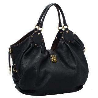 Louis Vuitton Black Mahina Leather L Bag