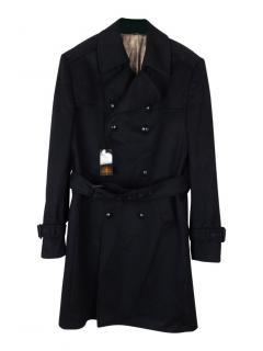 William Hunt Savile Row cashmere blend coat