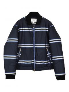 Baartmans and Siegel striped quilted bomber jacket
