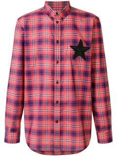 Givenchy star motif check shirt