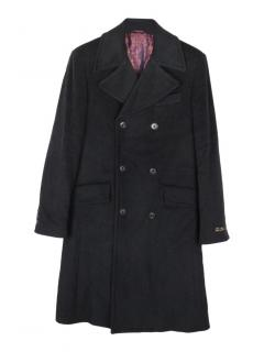 William Hunt Savile Row wool blend with cashmere coat