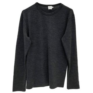 Sunspel Grey Wool Jumper