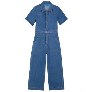 MIH jeans stone washed denim jumpsuit