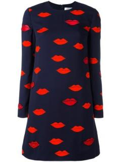 Victoria by Victoria Beckham Lip Print Dress