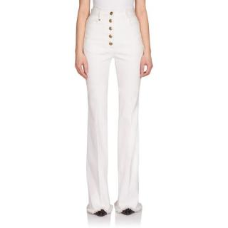Sonia Rykiel High-Waist Button-Front Flare Jeans