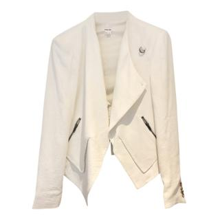 Helmut Lang white asymmetric jacket