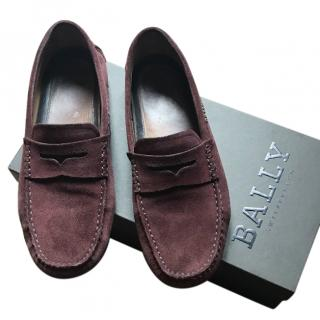 Bally Purple Loafers
