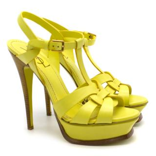 YSL Yellow Tribute Sandals