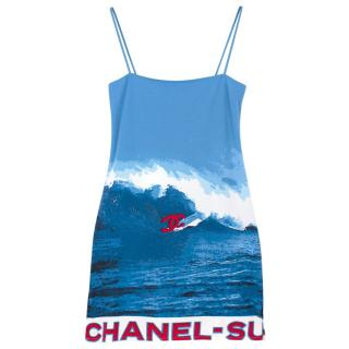 Chanel Surf Line Printed Cami Dress
