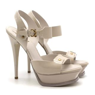 Yves Saint Laurent '105 Tribute' Leather Patent Sandals