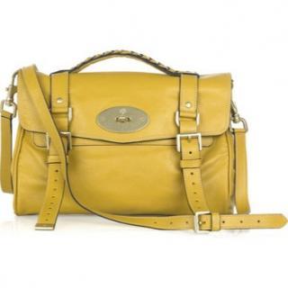 Mulberry butter yellow 'alexa' satchel