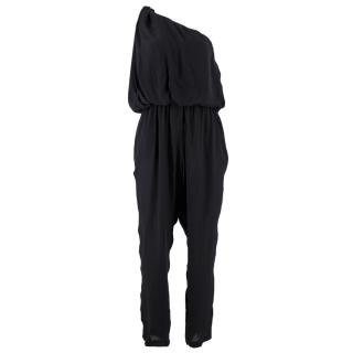 Lanvin Silk One Shoulder Jumpsuit